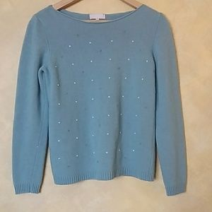Sweaters - blue turquoise sweater size large